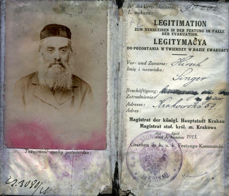 Fotografia przedstawia dokument ze zdjęciem.